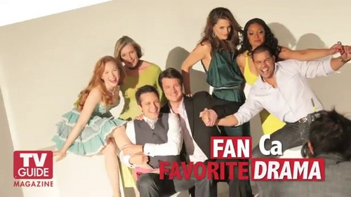Nathan Fillion & Stana Katic fond d'écran possibly with a well dressed person titled TV Guide Photoshoot