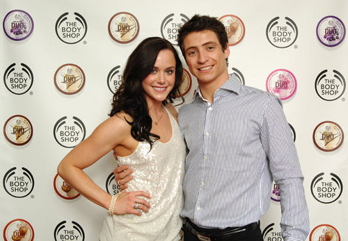 Tessa Virtue & Scott Moir wallpaper with a bridesmaid titled The Body Shop