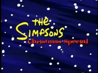 The Simpsons wallpaper possibly containing a portrait entitled The Simpsons' Christmas Special Title Card