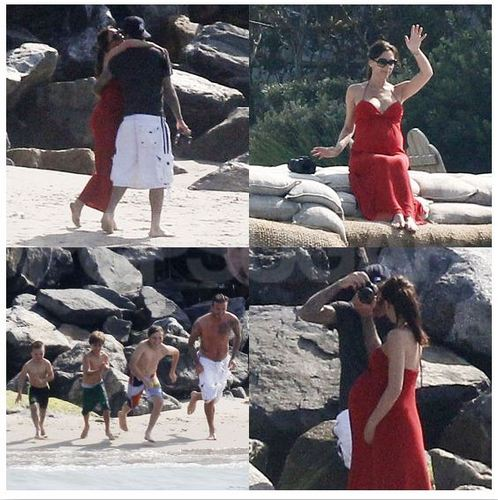 Victoria Beckham Hits the pantai With Shirtless David and Her Boys Just Days Before Giving Birth