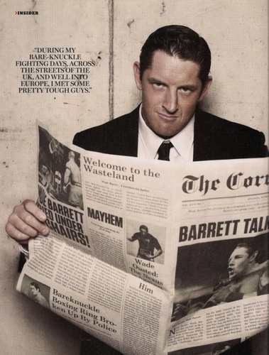 Wade Barrett wallpaper containing a newspaper, a packing box, and a business suit titled Wade Barrett HQ pic