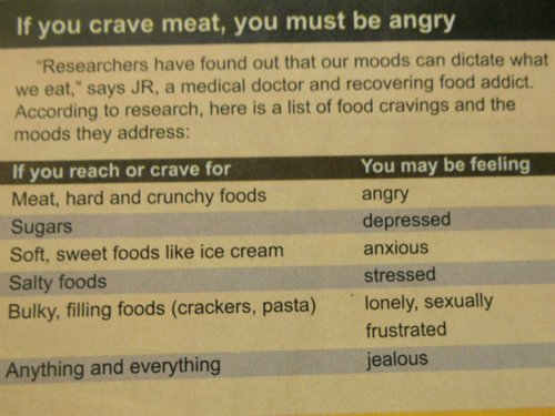 What food craving means personality test photo