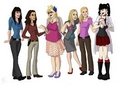 Ziva and Abby plus other Crime Show Ladies Cartoon - ncis fan art