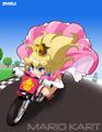 cute peach - mario-kart photo
