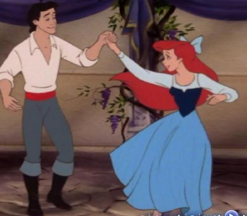 Ariel and Eric wallpaper titled dancing
