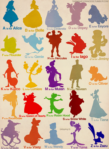disney&#39;s alphabet - disney-couples Photo