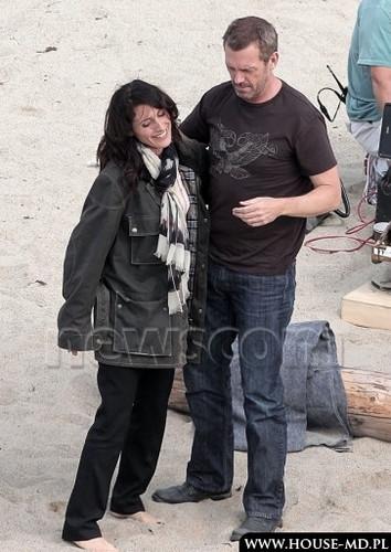 hugh and lisa on the beach