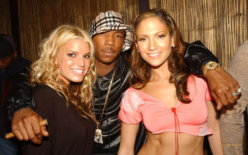 एमटीवी vma 2001party - ja rule, jessica simpson, jlo