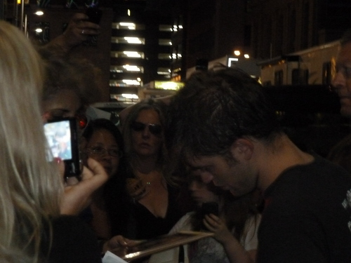 new Robert with fans