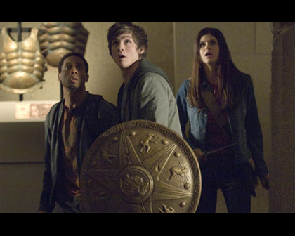 Percy Jackson & The Olympians বই দেওয়ালপত্র titled percy, annabeth, and grover