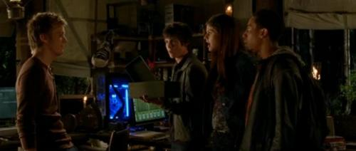 percy,annabeth, and grover talking to luke - percy-jackson-and-the-olympians-books Photo
