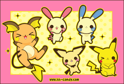 Pikachu wallpaper probably containing anime called pika family