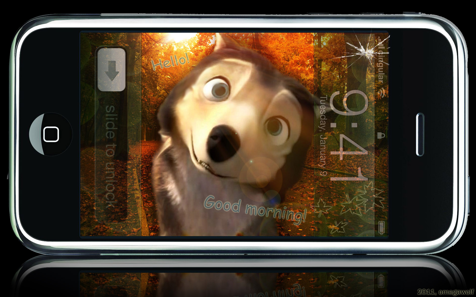 """""""Talk with Humphrey"""" the iPhone application! XD"""