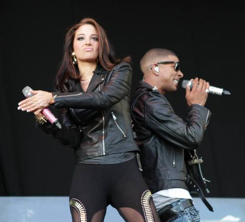 Tulisa of N-Dubz performs during Guilfest
