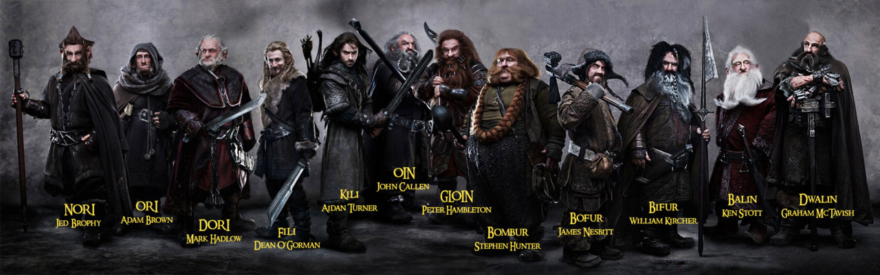 The Hobbit 12 Dwarfs