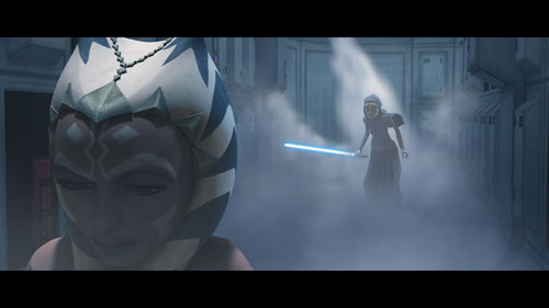 Ahsoka and another padawan whos name i forgot