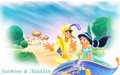 Aladdin and Jasmine - aladdin wallpaper
