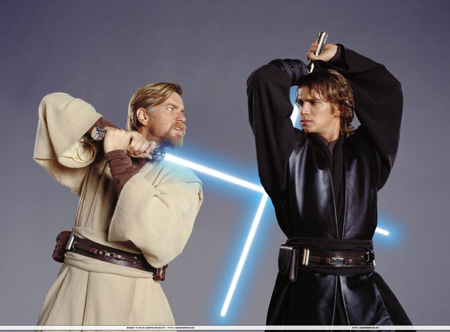 Star wars jedi anakin and obi wan