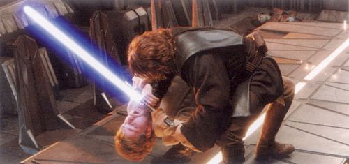 Anakin trying to kill Obi-wan!:'(