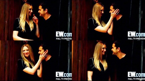 Anna Torv and Joshua Jackson fondo de pantalla probably with a portrait called Anna & Josh Fringe photoshoot