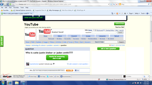 Another Justin Bieber fail on the YouTube spot...-_-