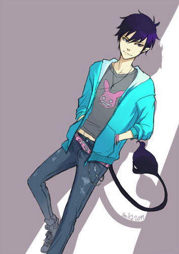 Rin Okumura 바탕화면 probably with 아니메 titled Ao No Exorcist