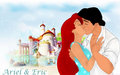 Ariel and Eric - the-little-mermaid wallpaper
