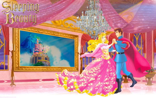 Sleeping Beauty wallpaper entitled Aurora and Philip