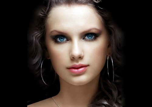 Taylor snel, snel, swift achtergrond with a portrait titled Beautiful Eyes