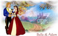 Belle and Adam - beauty-and-the-beast wallpaper