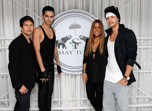 Tokio Hotel wallpaper containing a business suit called Bill and Tom @ Shay Todd Flagship Store Opening (07.07.11)
