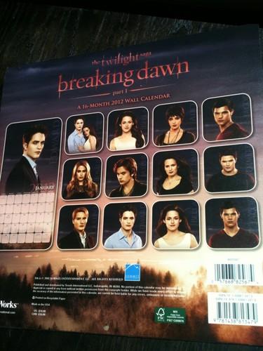 Breaking Dawn Calendar