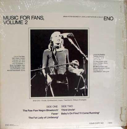Brian Eno - música for fans (bootleg)