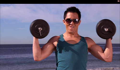 Carlitos working out on Big Time Beach Party - carlos-pena Photo