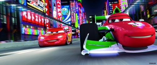 Disney Pixar Cars 2 wallpaper probably with a street and a diner titled Cars 2 pics :)