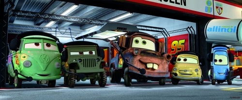 Disney Pixar Cars 2 wallpaper possibly containing a diner entitled Cars 2 pics :)