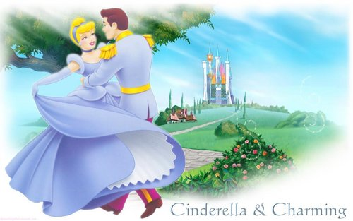Cinderella wallpaper with a bouquet titled Cinderella and Prince Charming