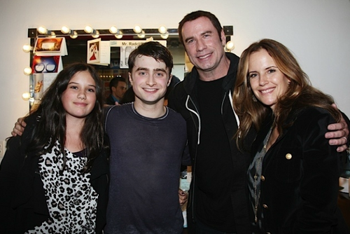 Daniel radcliffe with John Travolta and Family