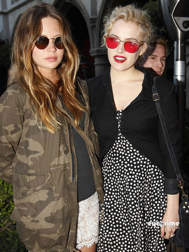 Daveigh Chase & Riley Keough attend The DeLeon tequila Party in Hollywood, May 15