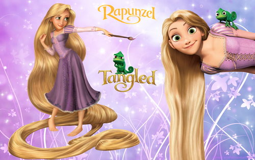 Tangled پیپر وال possibly containing a bouquet and a portrait entitled Disney Princess Rapunzel