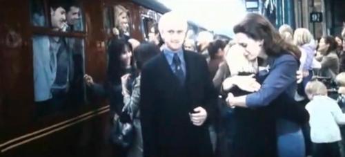Draco, Astoria and Scorpius in Epilogue
