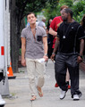 Ed Westwick filming Gossip Girl in NY, Jul 14  - ed-westwick photo