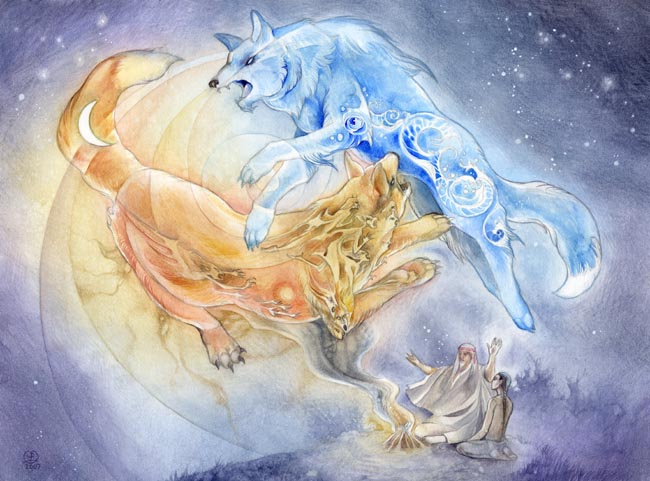 Element pack images Elemental wolves wallpaper and ...