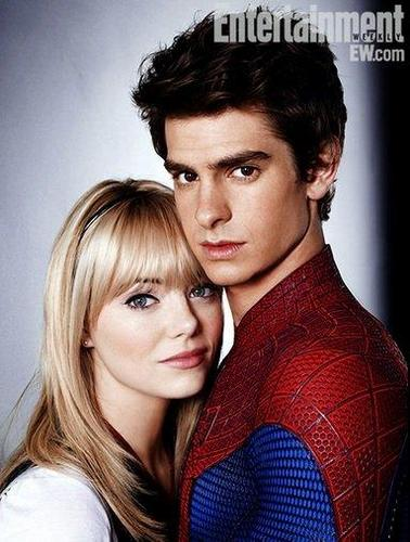 Emma Stone with Andrew Garfield in EW