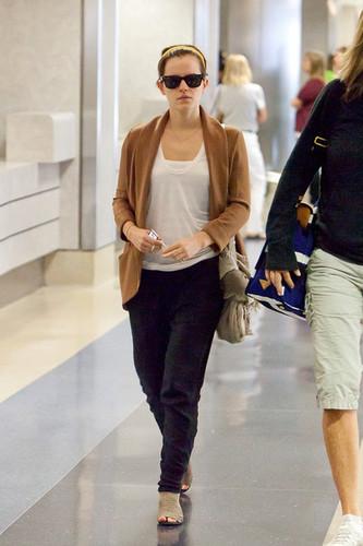 Emma Watson at LAX