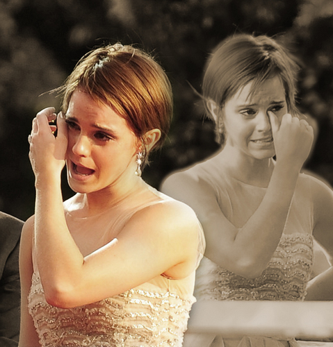 Emma Watson wallpaper containing a bridesmaid called Emma Watson crying