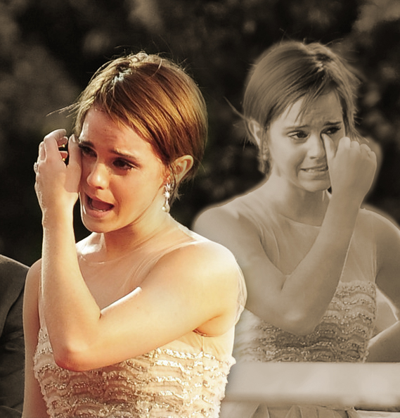 Emma Watson crying
