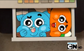 Gumball and Darwin in cash register - the-amazing-world-of-gumball screencap
