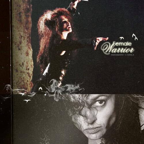 Helena as Bellatrix