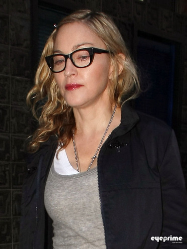 Madonna pictured leaving a recording studio in Soho, London,  June 8